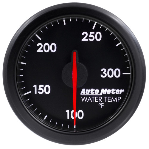 """AutoMeter 2-1/16"""" Water Temp100-300`F Airdrive Black"""
