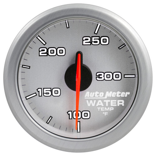 """AutoMeter 2-1/16"""" Water Temp 100-300`F Airdrive Silver"""