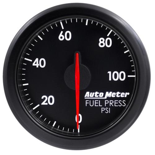 "AutoMeter 2-1/16"" Fuel Press 0-100 Psi Airdrive Black"