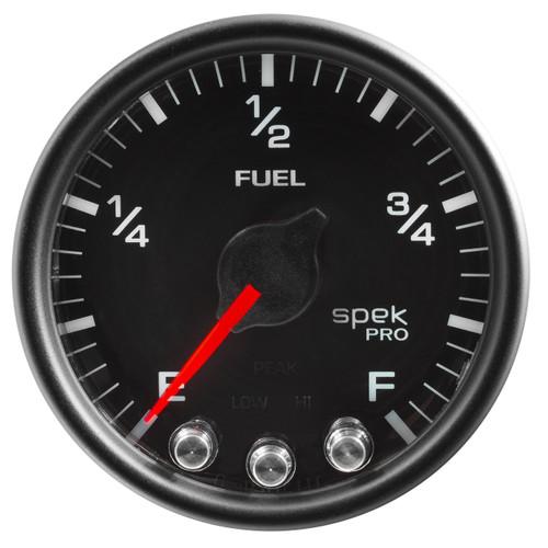 "AutoMeter Gauge Fuel Level 2 1/16"" 0-270Ω Programmable Blk/Blk Spek-Pro"
