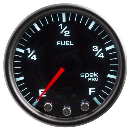 "AutoMeter Gauge Fuel Level 2 1/16"" 0-270Ω Programmable Blk/Smoke/Blk Spek-Pro"