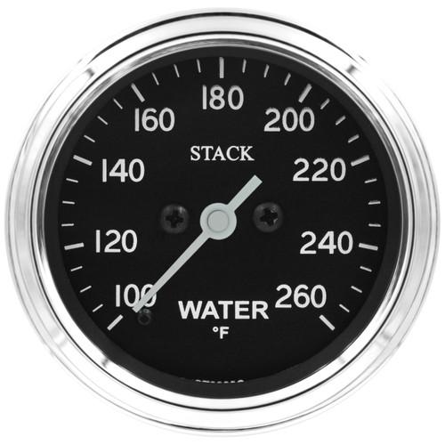 "AutoMeter Gauge Water Temp Pro Stepper Motor 52mm Classic 100-260ºf 1/8"" nptf Male"