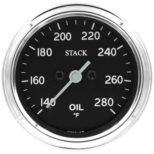 "AutoMeter Gauge Oil Temp Pro Stepper Motor 52mm Classic 140-280ºf 1/8"" nptf Male"