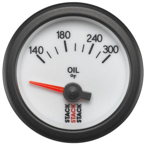 "AutoMeter Gauge Oil Temp Electric 52mm Wht 140-300ºf 1/8"" nptf"