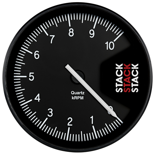 AutoMeter Tachometer Professional Action Replay 125mm Blk 0-10K Rpm