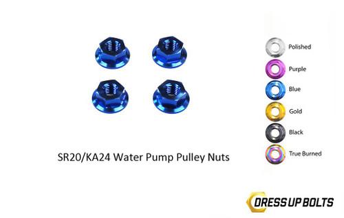 Dress Up Bolts Titanium Dress Up Bolts Water Pump Pulley Kit for Nissan SR20/KA24