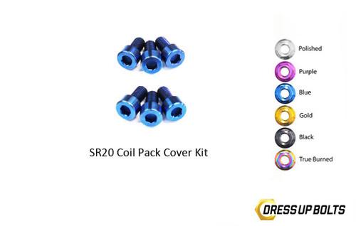 Dress Up Bolts Titanium Coil Pack Cover Kit for Nissan SR20DET