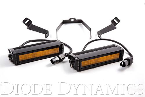 Diode Dynamics WRX 2015 SS6 LED Kit Amber Driving