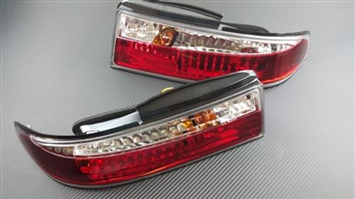 P2M 3PCS Crystal Rear Tail Lights LED Version for Nissan S14 ZENKI