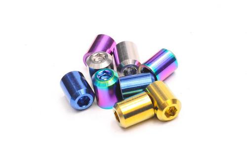 Dress Up Bolts Titanium Valve Stem Caps - Bullet Design Valve Stem Caps - Bullet Design