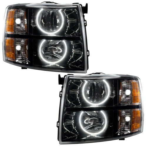 Oracle Lighting 2007-2013 Chevrolet Silverado SMD HL - Black - Round Style