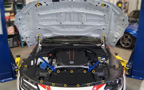 Dress Up Bolts Stage 1 Titanium Hardware Engine Bay Kit for Toyota Supra MKV '20+