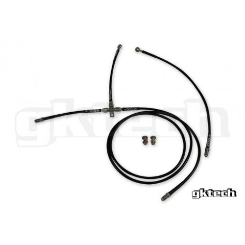 GKtech Stainless Steel Braided Teflon Lined ABS Delete Kit for Nissan 240SX S13 S14 S15 R32 R33 R34