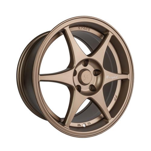 Stage Wheels Knight 17x8 +10mm 5x120 CB: 74.1 Color: Matte Bronze