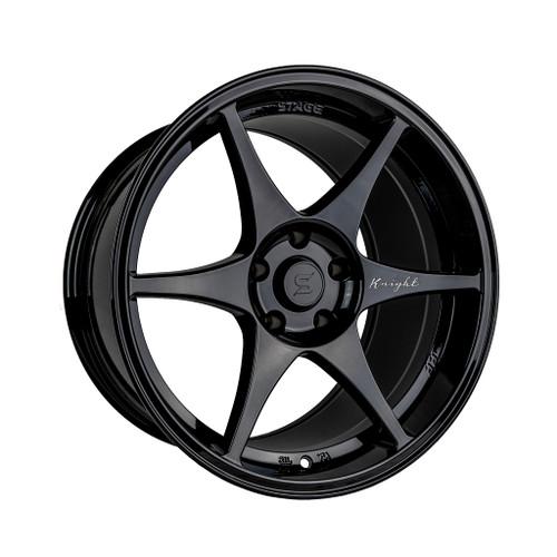 Stage Wheels Knight 18x9.5 +12mm 5x114.3 CB: 73.1 Color: Black