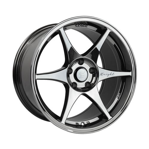 Stage Wheels Knight 18x9.5 +22mm 5x114.3 CB: 73.1 Color: Black Chrome