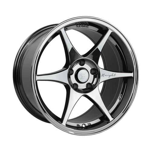 Stage Wheels Knight 18x9.5 +35mm 5x100 CB: 73.1 Color: Black Chrome