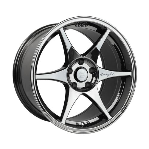 Stage Wheels Knight 18x9.5 +35mm 5x114.3 CB: 73.1 Color: Black Chrome