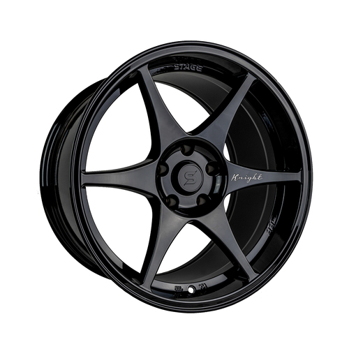 Stage Wheels Knight 18x10.5 +15mm 5x114.3 CB: 73.1 Color: Black