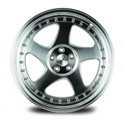 Aodhan Wheels AH01 18x9.5 5x100 +30 Silver Machined Face And Lip