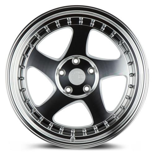 Aodhan Wheels AH01 18x10.5 5x114.3 +25 Silver Machined Face And Lip