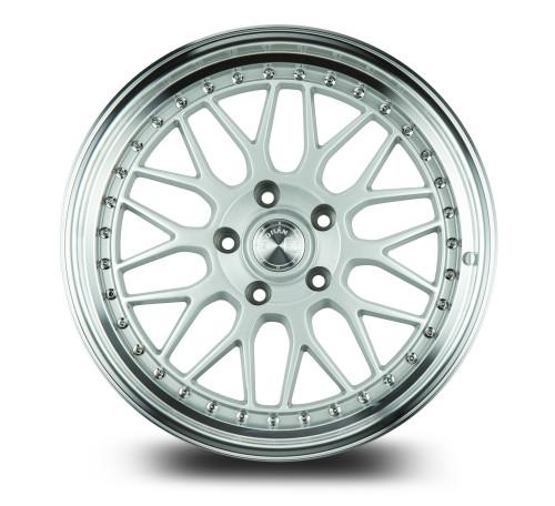 Aodhan Wheels AH02 18x9.5 5x100 +30 Silver w/Machined Lip