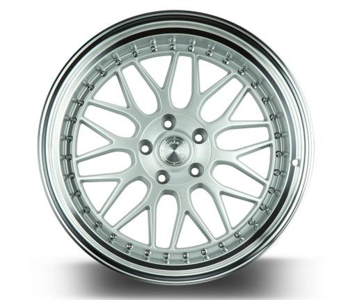 Aodhan Wheels AH02 19x11 5x114.3 +22 Silver w/Machined Lip