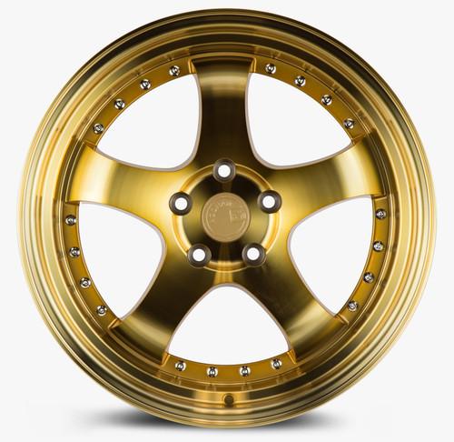 Aodhan Wheels AH03 18x9.5 5x114.3 +30 Gold w/Machined Face