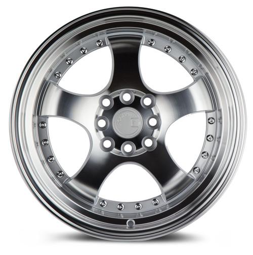 Aodhan Wheels AH03 16x8 4x100/114.3 +15 Silver Machined Face And Lip