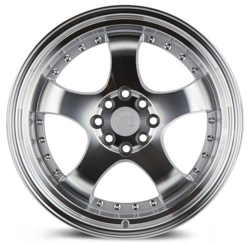 Aodhan Wheels AH03 17x9 4x100/114.3 +25 Silver Machined Face And Lip
