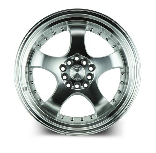 Aodhan Wheels AH03 17x9 5x100/114.3 +25 Silver Machined Face And Lip