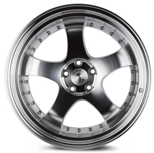 Aodhan Wheels AH03 18x10.5 5x114.3 +25 Silver Machined Face And Lip