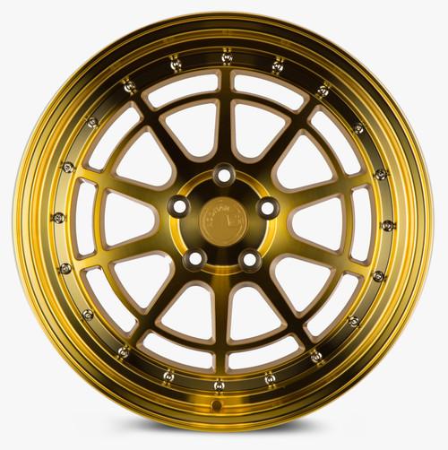 Aodhan Wheels AH04 18x9.5 5x100 +35 Gold W/Machined Face