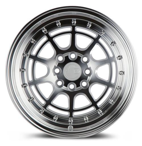 Aodhan Wheels AH04 15x8 4x100/114.3 +20 Silver Machined Face And Lip