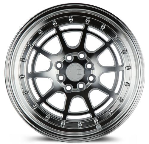 Aodhan Wheels AH04 16x8 4x100/114.3 +15 Silver Machined Face And Lip