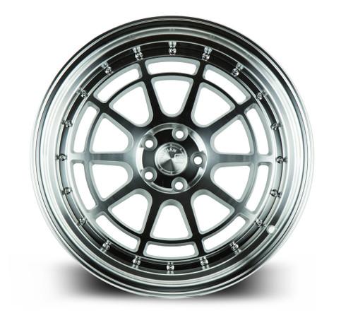 Aodhan Wheels AH04 18x9.5 5x100 +35 Silver Machined Face And Lip