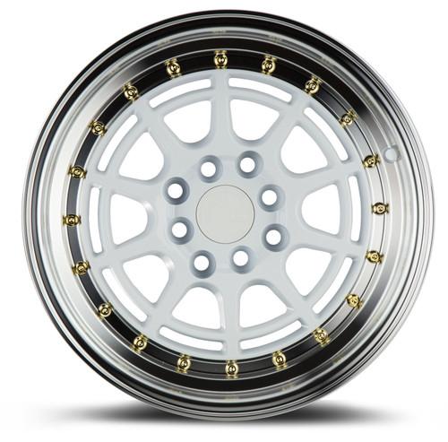 Aodhan Wheels AH04 15x8 4x100/114.3 +20 White Machined Lip