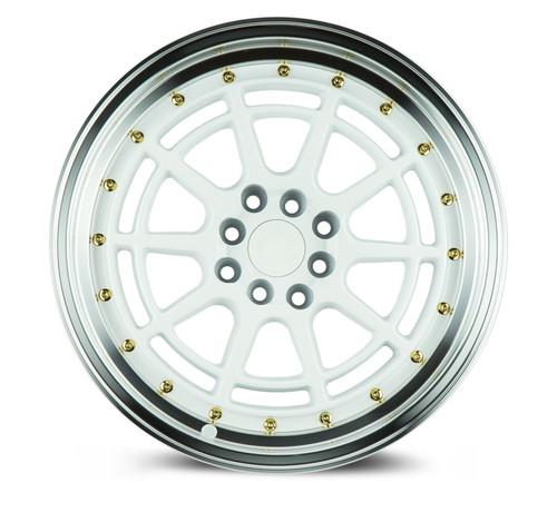 Aodhan Wheels AH04 17x9 4x100/114.3 +25 White Machined Lip