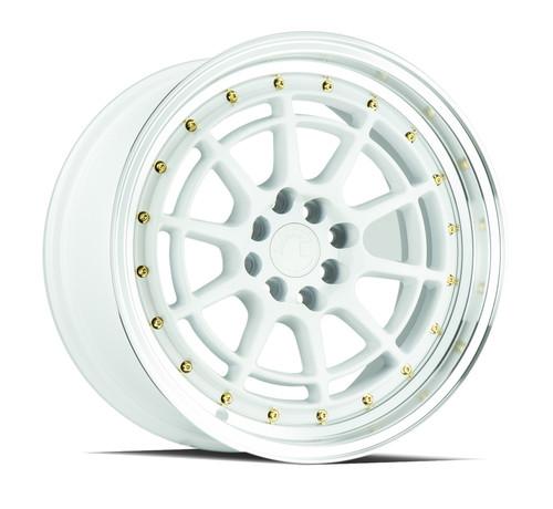 Aodhan Wheels AH04 17x9 5x100/114.3 +25 White Machined Lip