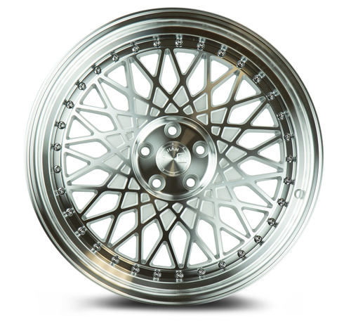 Aodhan Wheels AH05 18x8.5 5x100 +35 Silver Machined Face And Lip