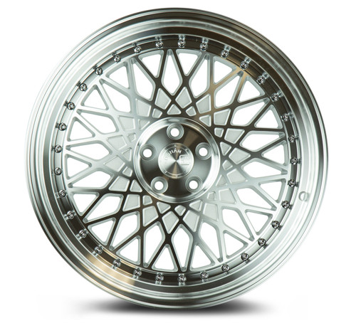 Aodhan Wheels AH05 18x9.5 5x100 +35 Silver Machined Face And Lip
