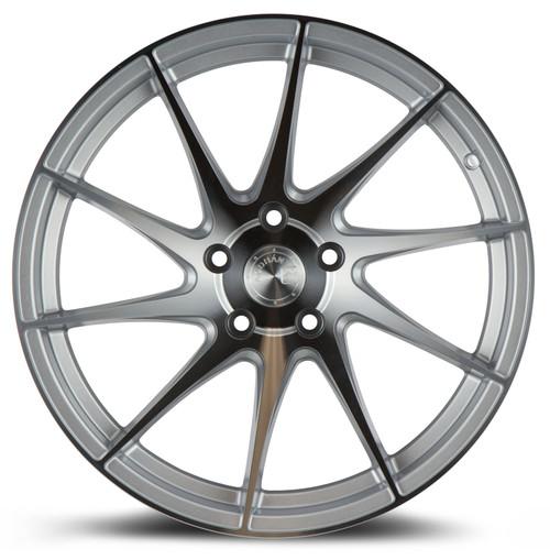 Aodhan Wheels AH09 18x9.5 (Driver Side) 5x114.3 +35 Gloss Silver Machined Face