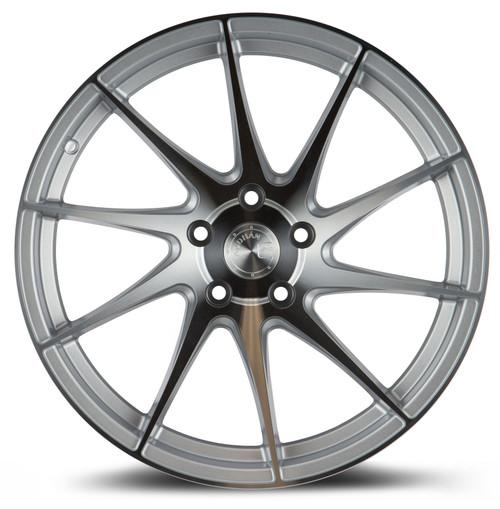 Aodhan Wheels AH09 18x9.5 (Passenger Side) 5x114.3 +35 Gloss Silver Machined Face