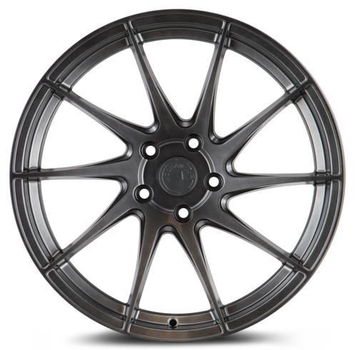 Aodhan Wheels AH09 18x8.5 (Passenger Side) 5x100 +35 Hyper Black