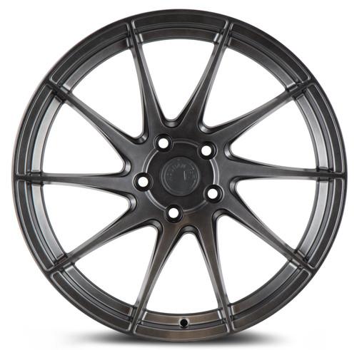 Aodhan Wheels AH09 18x8.5 (Driver Side) 5x112 +35 Hyper Black