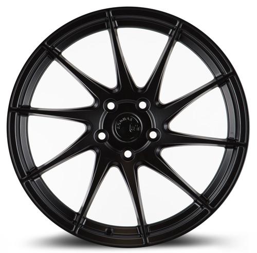 Aodhan Wheels AH09 18x8.5 (Passenger Side) 5x100 +35 Matte Black