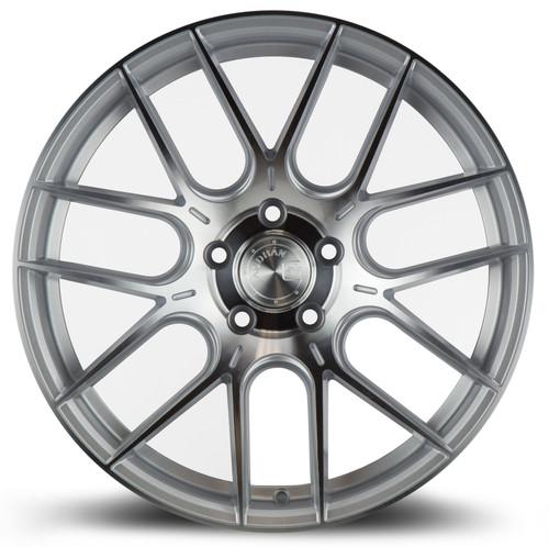 Aodhan Wheels AH-X 18x9.5 5x112 +35 Gloss Silver Machined Face