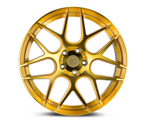 Aodhan Wheels LS002 19x8.5 5x114.3 +35 Gold Machined Face