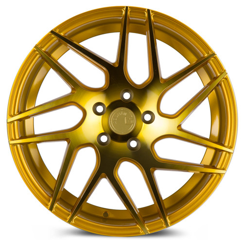 Aodhan Wheels LS008 18x9 5x114.3 +30 Gold Machined Face
