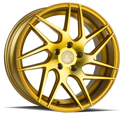 Aodhan Wheels LS008 20x9 5x120 +30 Gold Machined Face
